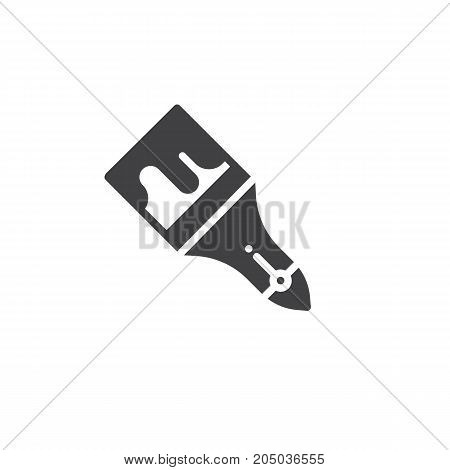 Paint brush icon vector, filled flat sign, solid pictogram isolated on white. Symbol, logo illustration.