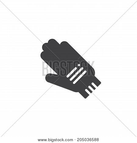 Protective Gloves icon vector, filled flat sign, solid pictogram isolated on white. Safety Symbol, logo illustration