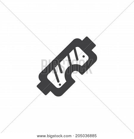Safety glasses icon vector, filled flat sign, solid pictogram isolated on white. Symbol, logo illustration