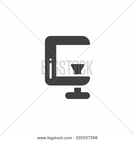 Clamp work tool icon vector, filled flat sign, solid pictogram isolated on white. Symbol, logo illustration.