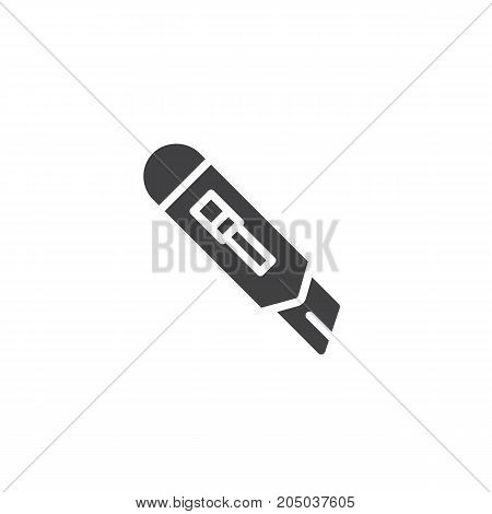 Paper Cutter icon vector, filled flat sign, solid pictogram isolated on white. Symbol, logo illustration