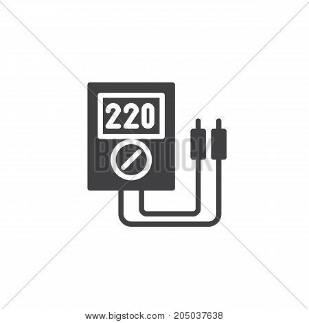 Voltmeter icon vector, filled flat sign, solid pictogram isolated on white. Symbol, logo illustration