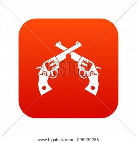 Revolvers icon digital red for any design isolated on white vector illustration