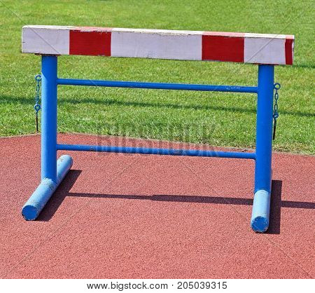 Gate of the hurdling race contest outdoor