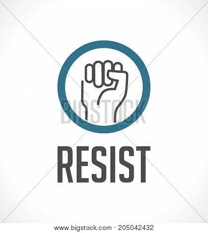 Logo - resist concept - fist as symbol of resistance
