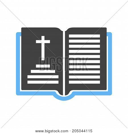 Book, bible, holy icon vector image. Can also be used for funeral. Suitable for mobile apps, web apps and print media.