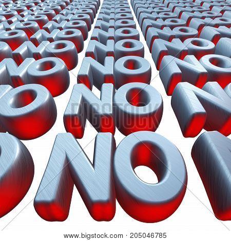 No words text wall. 3d render ilustration isolated on white