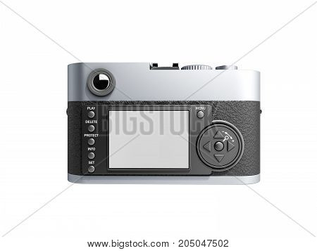 Old Photo Camera 3D Render On White Background