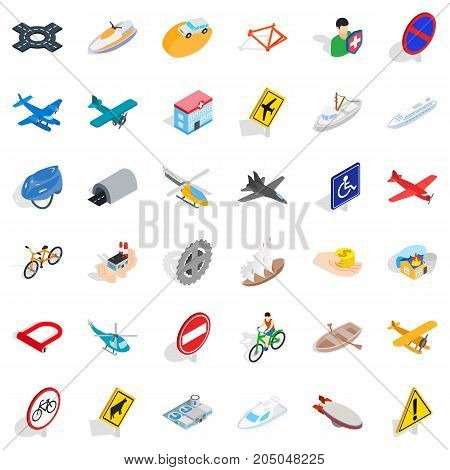 Tunnel icons set. Isometric style of 36 tunnel vector icons for web isolated on white background