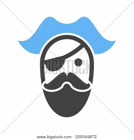 Hat, pirate, character icon vector image. Can also be used for Pirate. Suitable for use on web apps, mobile apps and print media