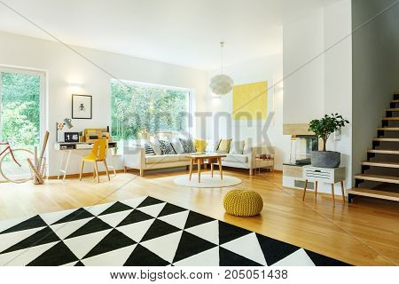 Spacious Apartment With Corner Sofa