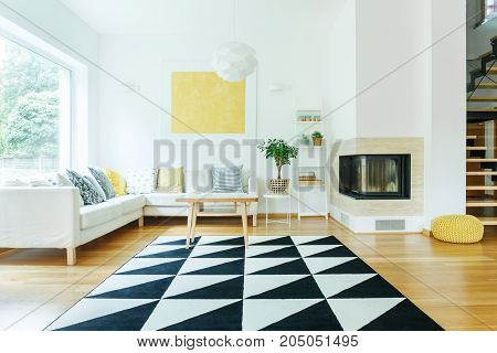 Open Space Interior With Sofa