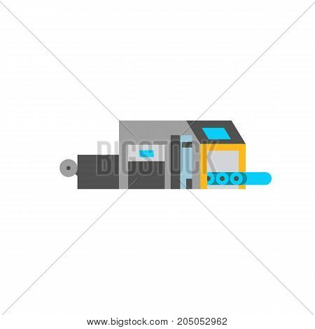 Icon of large printer. Copier, peripheral, device. Printer concept. Can be used for topics like technology, printing office