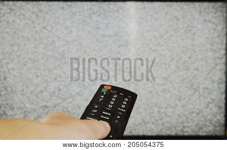 hand press television remote control for searching signal