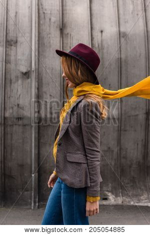 Stylish Girl In Fedora Hat