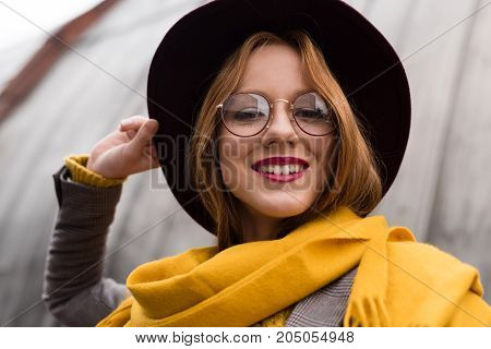 Girl In Eyeglasses, Fedora Hat