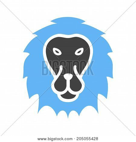 King, big cat, leopard icon vector image. Can also be used for Animal Faces. Suitable for mobile apps, web apps and print media.