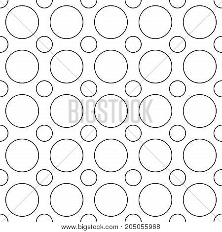 Seamless abstract monochrome circle pattern - vector background design