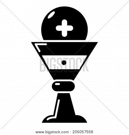 Church goblet glyph icon . Simple illustration of church goblet glyph vector icon for web design isolated on white background