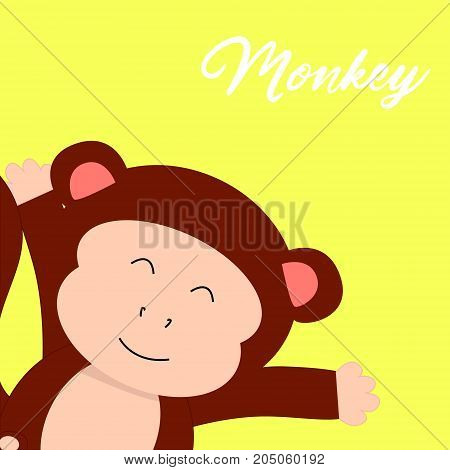 monkey T-shirt graphics cute cartoon characters cute graphics for kids Book illustrations textile graphic