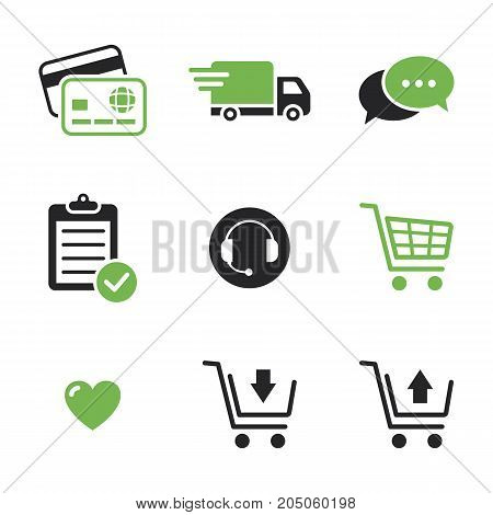 Online Shop Icons Shopping Web Store Vector