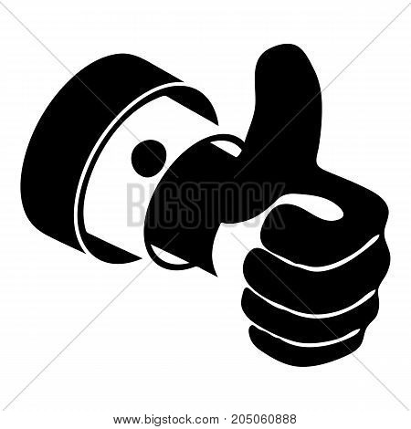 Election thumb up icon. Simple illustration of election thumb up vector icon for web design isolated on white background