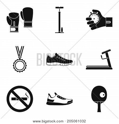 Reward for duel icons set. Simple set of 9 reward for duel vector icons for web isolated on white background