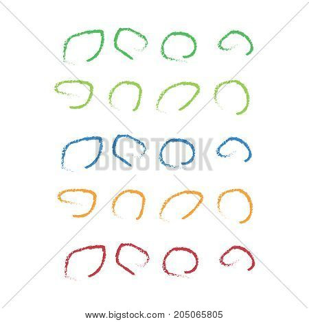 Vector Marker Circle Set. Markers Drawn Highlight Circles