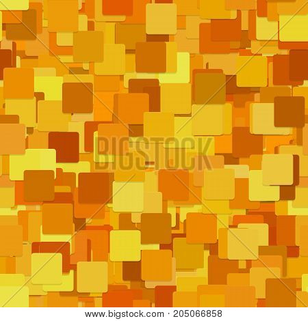Abstract seamless chaotic square pattern background - vector graphic from orange squares with shadow effect