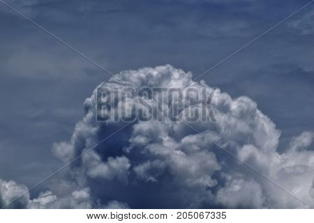 white cloudy on blue sky for background