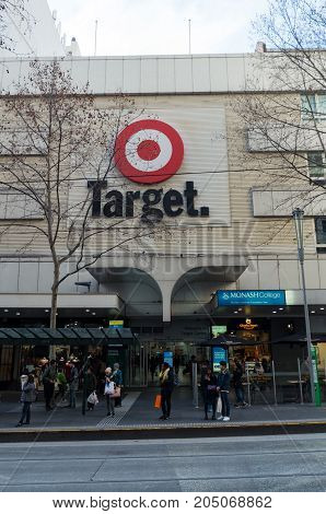 Melbourne Australia - July 29 2017: Target is a discount department store owned by Wesfarmers. This store is located in Bourke Street in Melbourne.