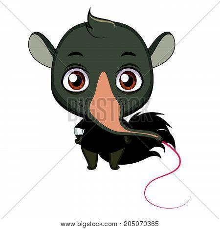 Cute Stylized Cartoon Anteater Illustration ( For Fun Educational Purposes, Illustrations Etc. )