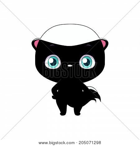 Cute Stylized Cartoon Honey Badger Illustration ( For Fun Educational Purposes, Illustrations Etc. )