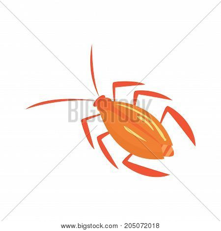Cockroach insect cartoon vector illustration isolated on a white background