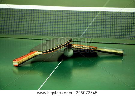Two Table Tennis Rackets