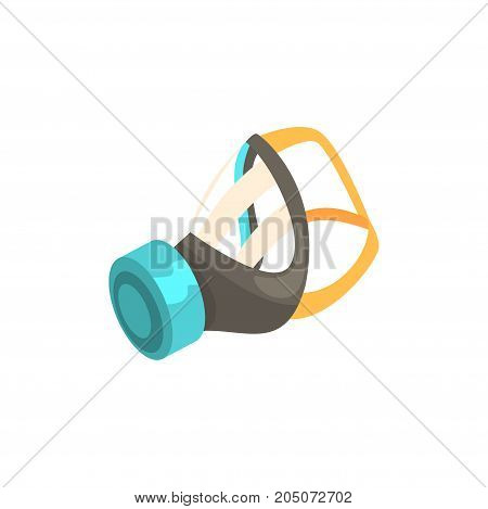 Respirator, protective equipment cartoon vector illustration isolated on a white background