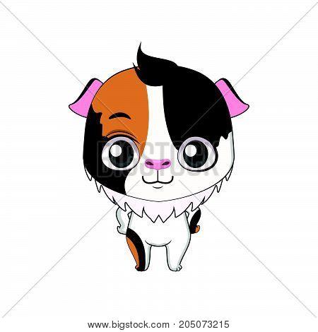 Cute Stylized Cartoon Guinea Pig Illustration ( For Fun Educational Purposes, Illustrations Etc. )