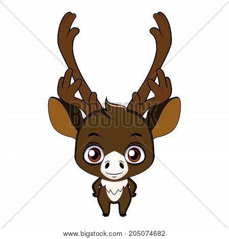 Cute Stylized Cartoon Caribou Illustration ( For Fun Educational Purposes, Illustrations Etc. )