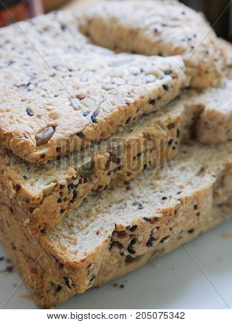 Organic Whole Grains And Seeds Mix Bread