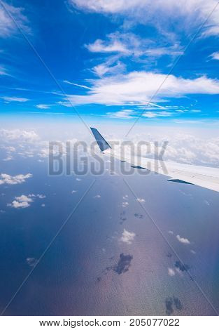 The View From The Window Of A Passenger Plane