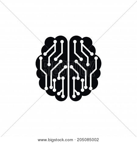 Thinking Vector Element Can Be Used For Thinking, Mentality, Brain Design Concept.  Isolated Mentality Icon.