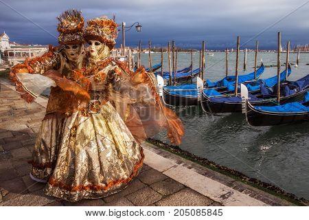 People Venice Carnival Mask