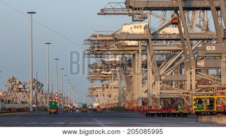 Shipping Container Port Cranes