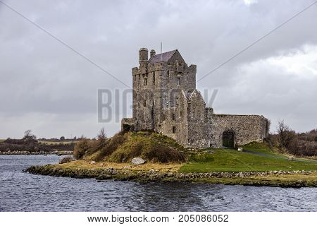 Dunguaire castle in Kinvara Bay. county Galway Ireland