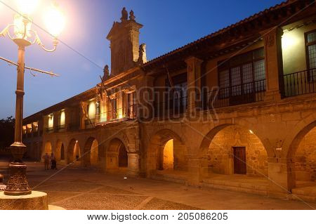 City Hall And Spain Square, Santo Domingo De La Calzada, Way Of Saint James, La Rioja, Spain