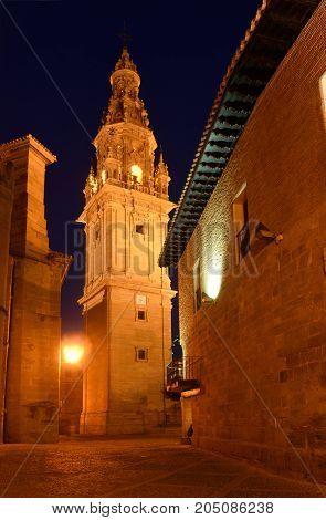 Night At The Cathedral Of Santo Domingo De La Calzada, St.james Way, La Rioja, Spain