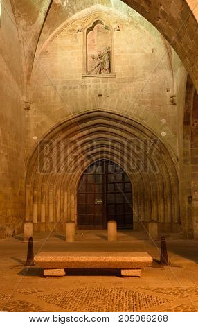 Portico Of The Cathedral Of Santo Domingo De La Calzada, St.james Way, La Rioja, Spain