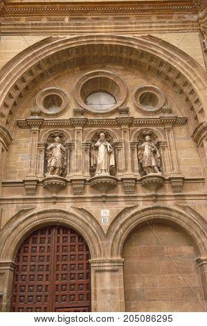 Sculptures On The Facade Of The Cathedral Of Santo Domingo De La Calzada, La Rioja, Spain