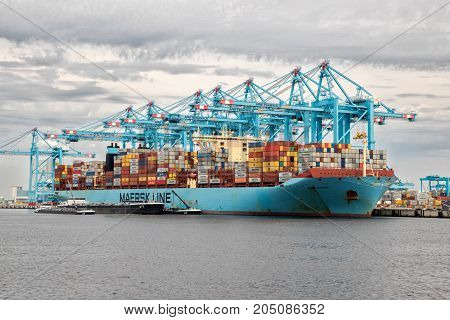 Sea Container Shipping Maersk Ship
