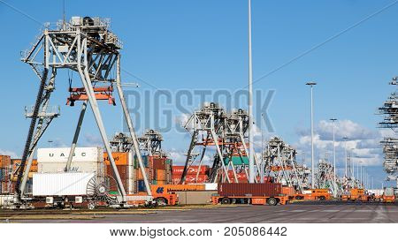 Shipping Container Port Terminal
